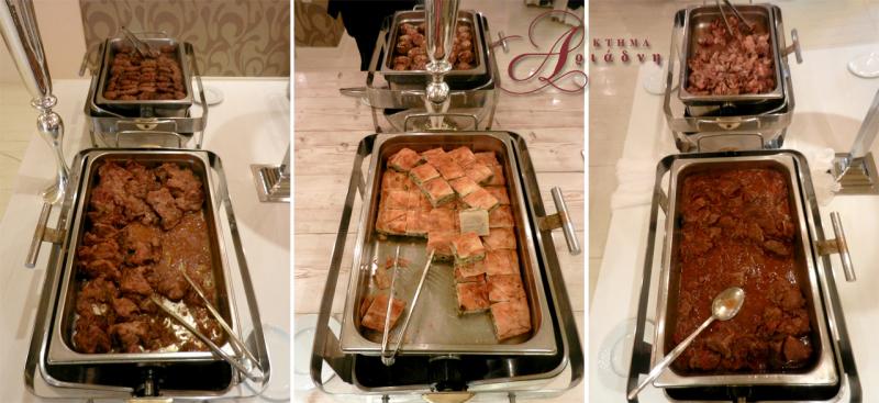 γεύσεις από το Αύρα Catering για τη γευστική δοκιμή στο κτήμα Αριάδνη