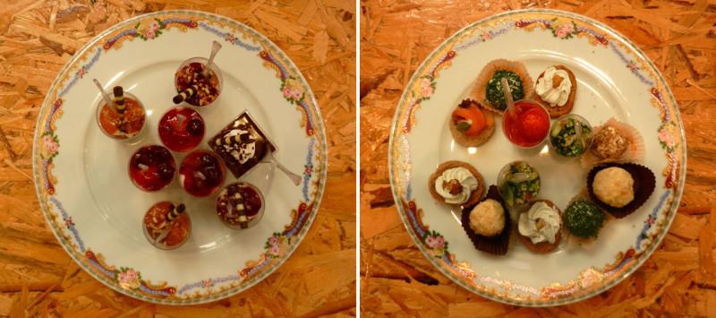 Τα πιάτα γέμιζαν διαρκώς με λιχουδιές δια χειρός Chef Κώστα Καλαμούκη από τη La Fourchete Εδέσματα