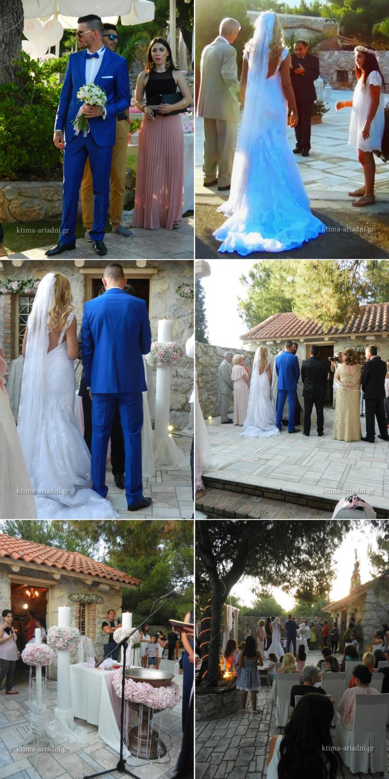 Στιγμιότυπα από τον γάμο του Βαγγέλη και της Ειρήνης, καθώς και από τη βάπτιση της Ραφαέλας που έγινε αμέσως μετά