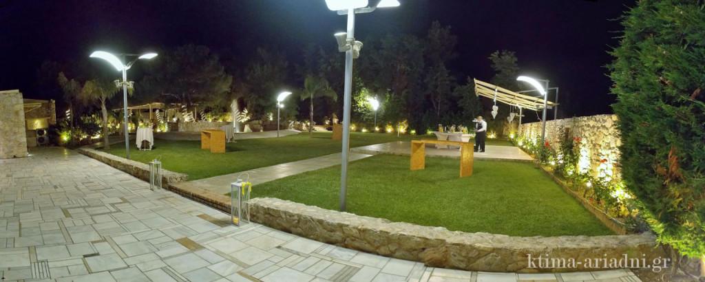 Γενική άποψη των κήπων του χώρου Φαιστός στο κτήμα Αριάδνη