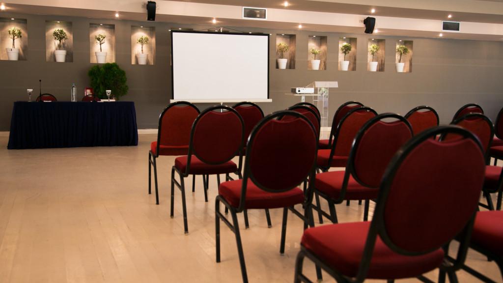 Άποψη της αίθουσας Φαιστός, όπως διαμορφώθηκε για εταιρική εκδήλωση παρουσίασης, στους αντιπροσώπους της εταιρίας, μιας νέας υπηρεσίας