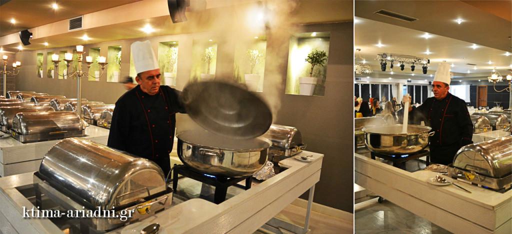 O Chef μαγειρεύει live ζυμαρικά κι ένα απίθανο ριζότο με μανιτάρια