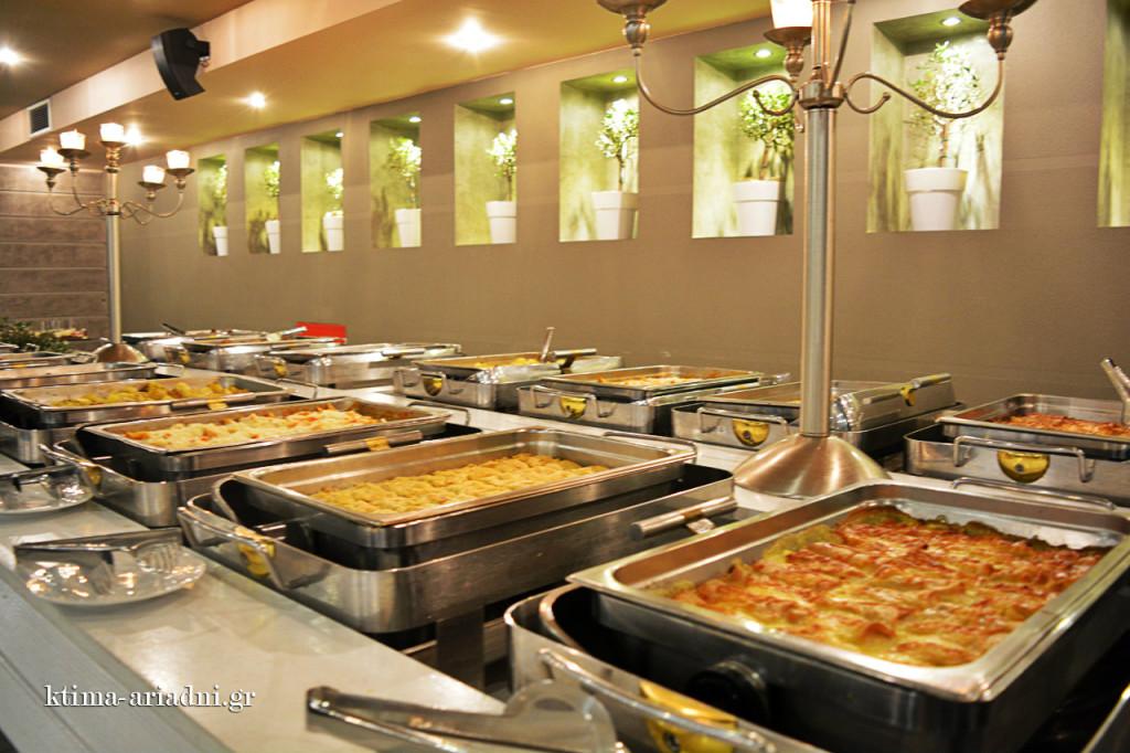 Για το φαγητό της βραδιάς φρόντισε το Golden Catering, δημιουργώντας έναν γευστικότατο buffet