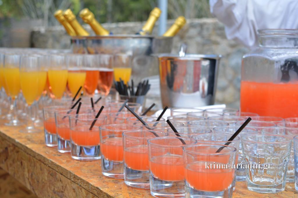 Τα welcome drinks χωρίζονταν σε ποτά για μικρούς και για μεγάλους