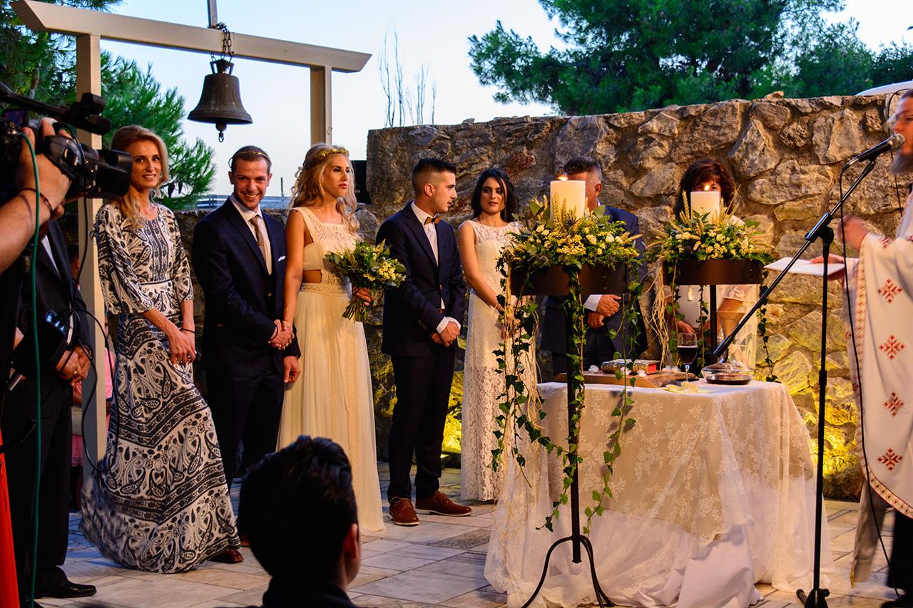 gamos sto ekklisaki rustic chic wedding ktima ariadni