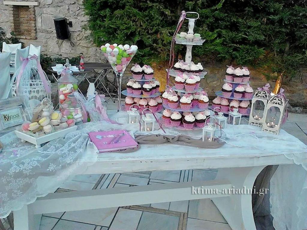 Τραπέζι ευχών για κοριτσάκι σε ρομαντικό ύφος