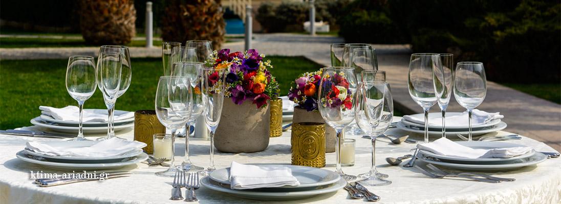Αριστοκρατικά στοιχεία στο τραπέζι luxury table setting elegant reception