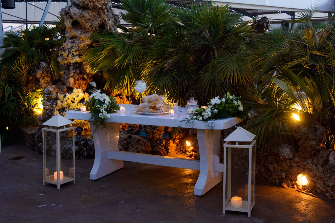 Ρομαντικό τραπέζι υποδοχής