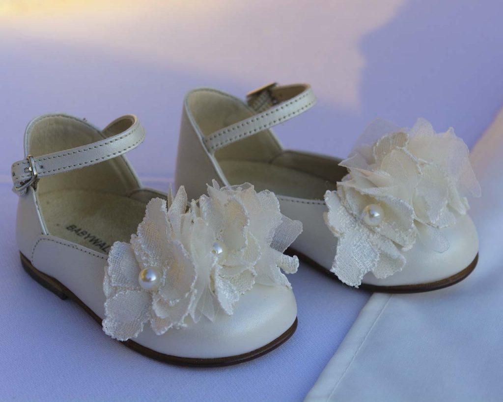 Βαπτιστικά παπούτσια για κοριτσάκι
