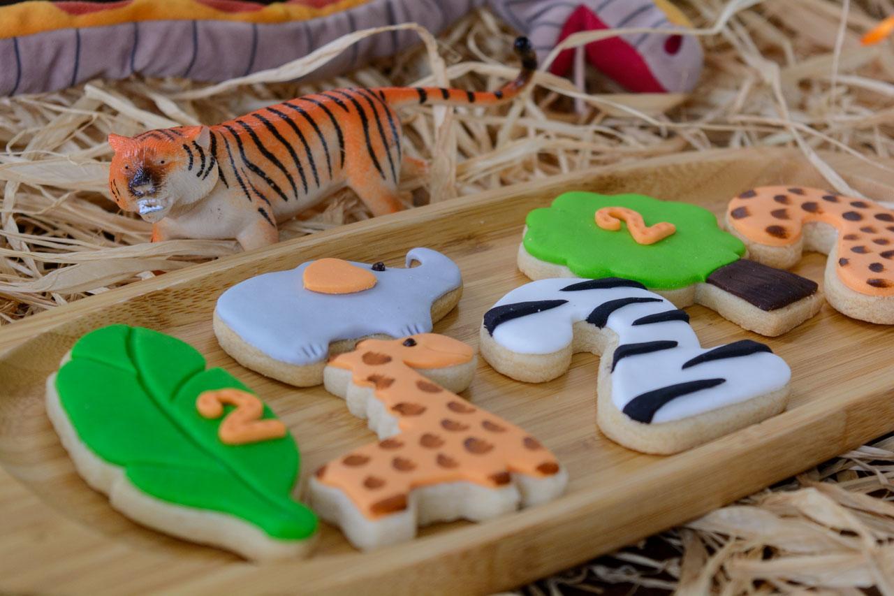 cookies με θέμα τα ζώα του δάσους και της σαβάνας