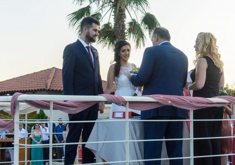 Η τέλεση του πολιτικού γάμου έγινε από τον Αντιδήμαρχο