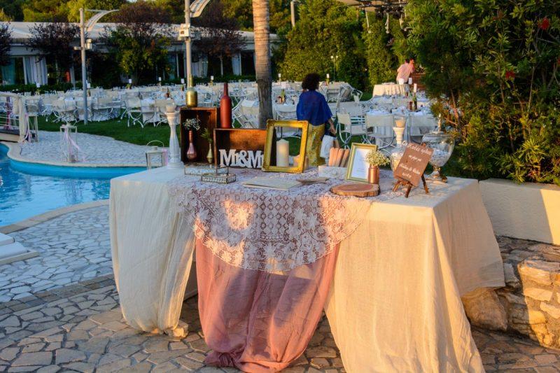 Τραπέζι ευχών με βεντάλιες για τις κυρίες