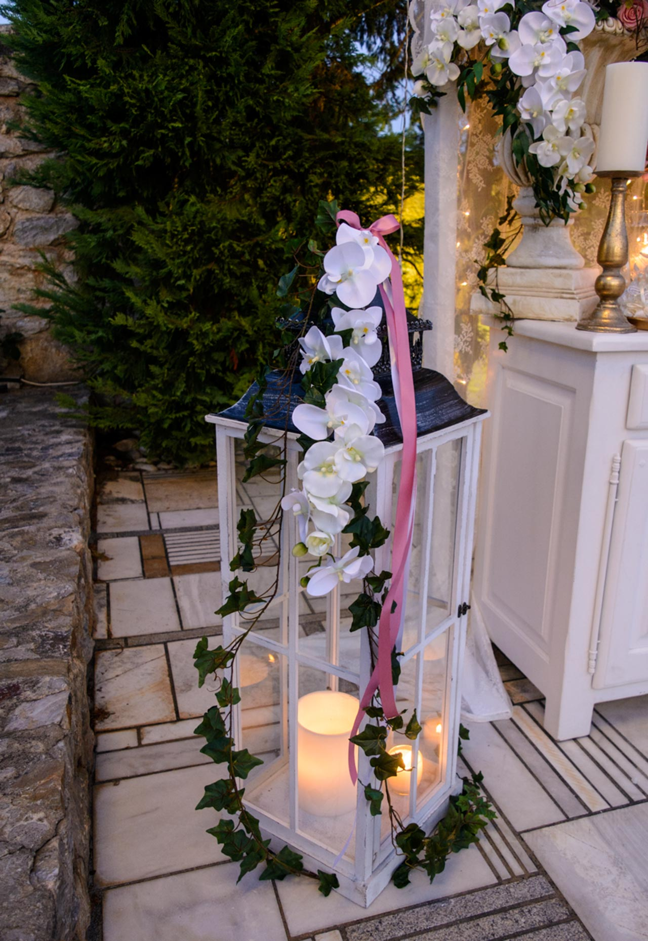Μεγάλο διακοσμητικό φανάρι για κεριά